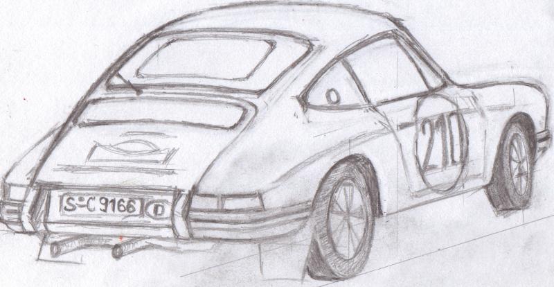 Automobile Racing Art: Porsche 911 T Elford/Stone 1968