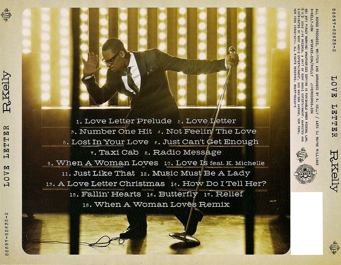 rkelly love letter rkellynews artwork letter 2010 12135 | R. Kelly Love Letter Back