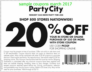 Party City coupons march 2017