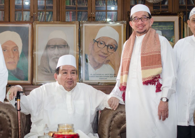 Habib Salim Kunjungi Pimpinan Majelis Taklim Al-Afaf Habib Ali