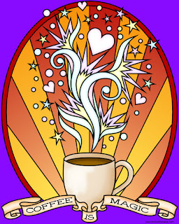 Coffee is magic- blank coloring page available