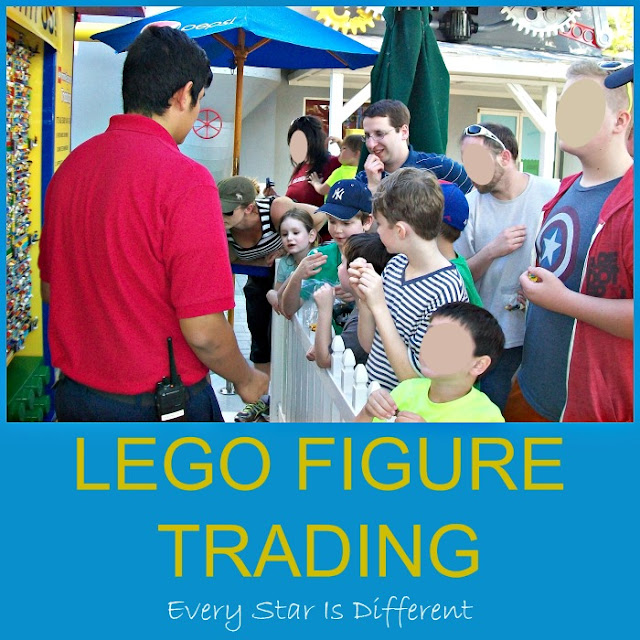 LEGO figure trading at LEGOLAND
