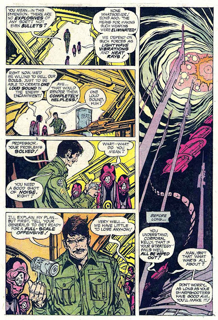 Weird War Tales v1 #23 dc bronze age comic book page art by Alex Nino