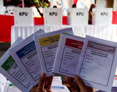 surat-suara-pemilu-serentak-2019-pilpres 2019-gunakan hak pilih-jangan golput