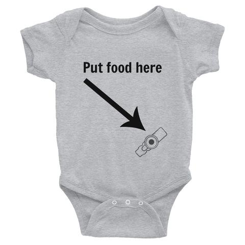 Put food here bodysuit GTube