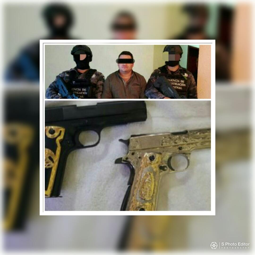 """Armas bañadas en oro blanco le fueron aseguradas a """"El Comandante Fierro"""", líder del CDG y asesino de sicarios del CJNG"""