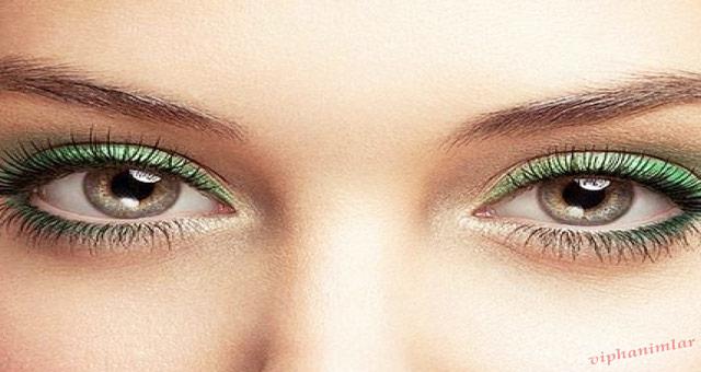 Yeşil Gözlere Göz Makyajı