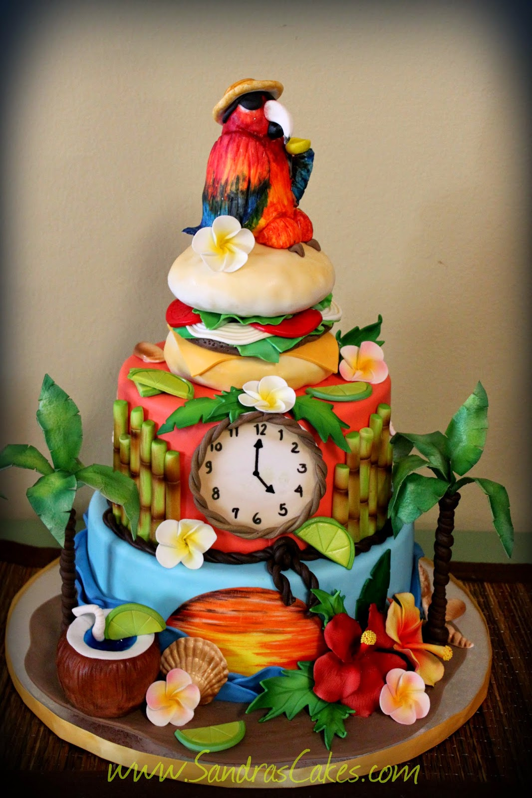 Margarita Themed Birthday Cake