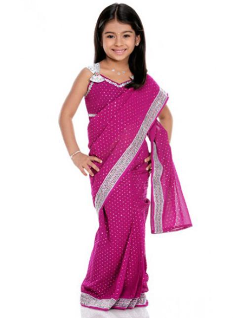 baju sari india anak