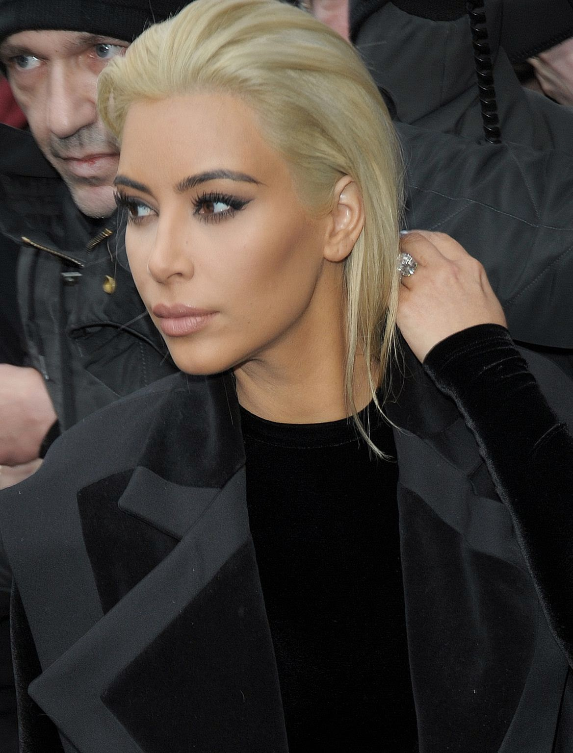 Kim Kardashian shows off new platinum blonde hair colour out and about in Paris