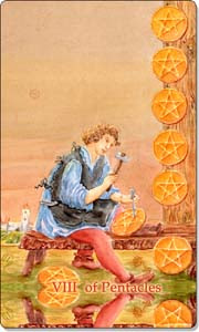 Eight of Pentacles www.aquatictarot.de