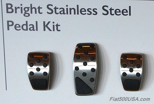 Fiat 500X Stainless Steel Pedal Kit