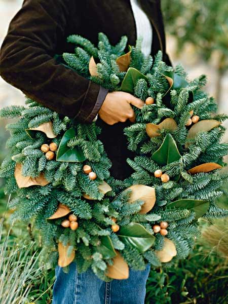 Magnolia Leaf Wreath: Color Outside The Lines: LOVE ... Christmas Magnolia Greens