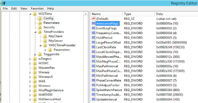 NTP Configuration in server 2012 2016