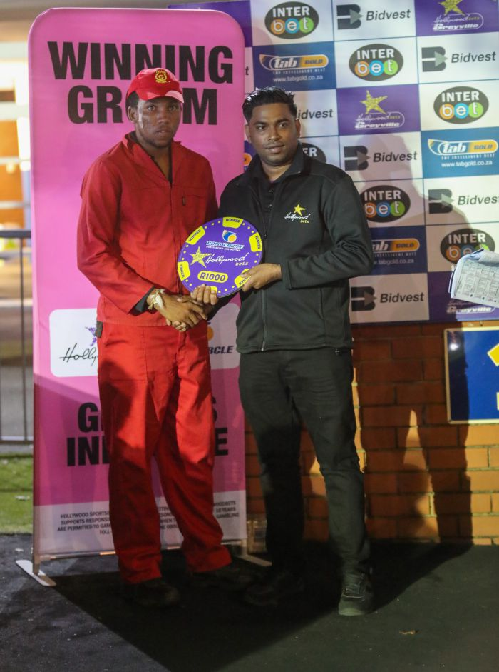Grooms Initiative winner - Friday 6th December - Hollywoodbets Greyville -  Race 8 - Hope Sibanda - DOWN TO EARTH