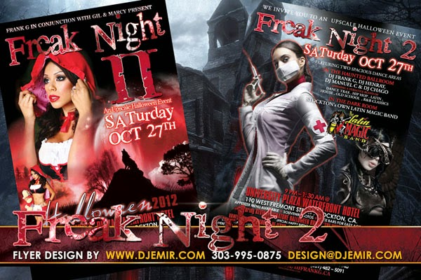 Freak Night 2 Sexy and Scary Halloween Flyer design