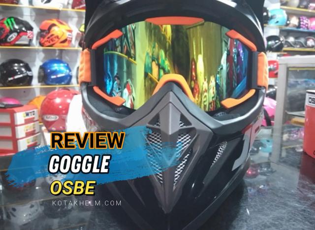 Review : Kacamata Goggle OSBE untuk Helm Cross JPX Fox 1 dan Cara Pasangnya