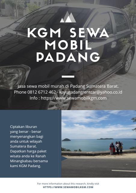 Rental Mobil Di Padang Bukittinggi Sumatera Barat Plus Sopir Harga Murah