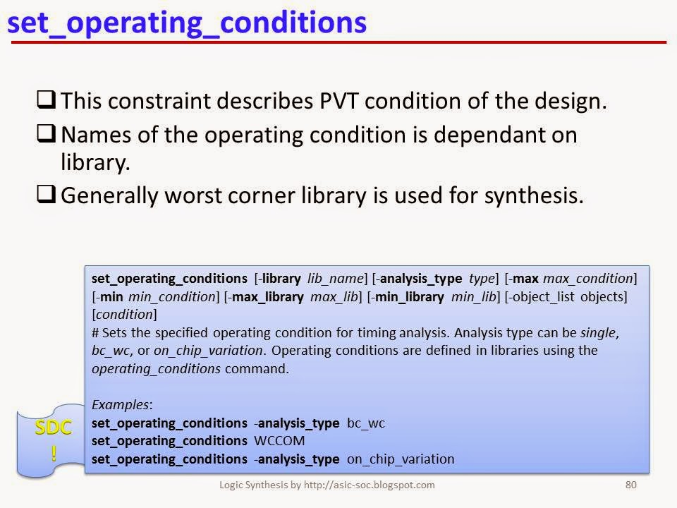 Design compiler Constraints And timing Reference manual