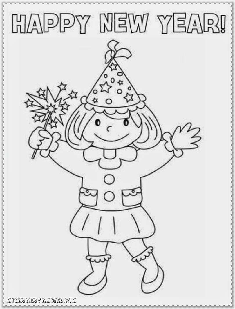 Coloring Pages Of Happy New Year