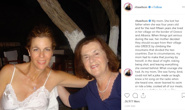 Rita Wilson showing her Albanian-Cham origin of Mother's Day