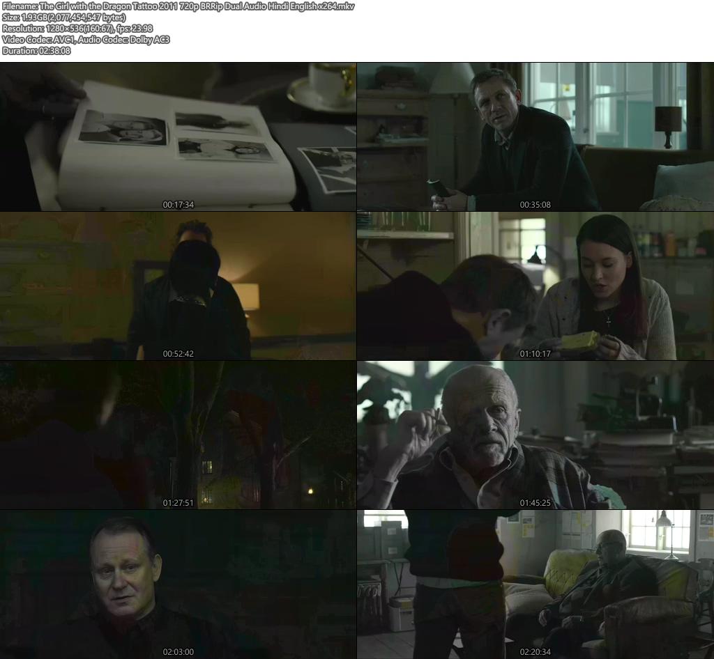The Girl with the Dragon Tattoo 2011 720p BRRip Dual Audio Hindi English x264 | 480p 300MB | 100MB HEVC Screenshot