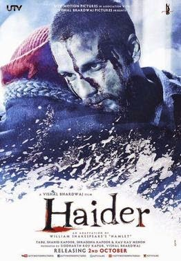 2014 Bollywood movie Haider Poster