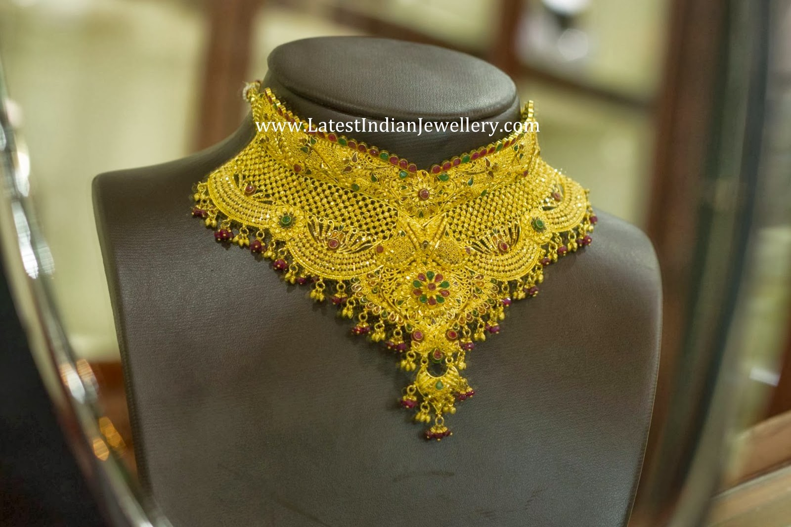 Indian Gold Bridal Choker Necklace
