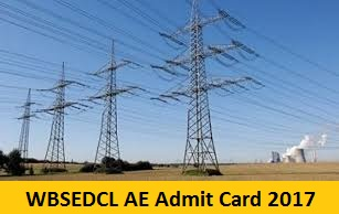 WBSEDCL AE Admit Card 2017