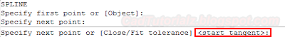 command bar spline autocad