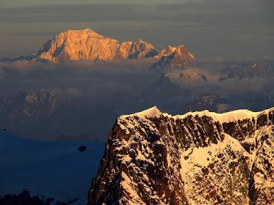 Mont Blanc z Nordend