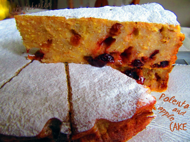 Polenta and apple cake by Laka kuharica: it is bursting with highly nutritious ingredients.