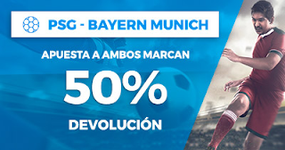 Paston Promoción 50 euros Champions PSG vs Bayern Munich 27 septiembre