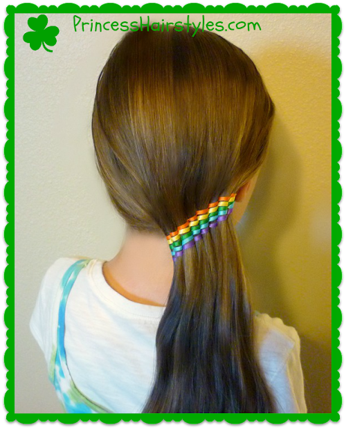 summer hairstyles waterfall ribbon