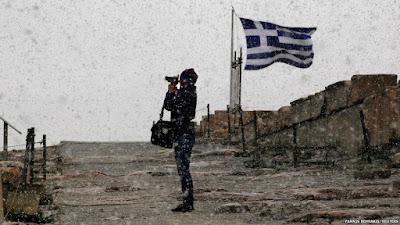 Типичная погода для греческой зимы