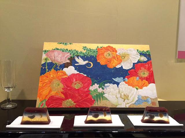 切るごとに絵柄が変わる、美しい羊羹【i】 日本画家、舛田玲香