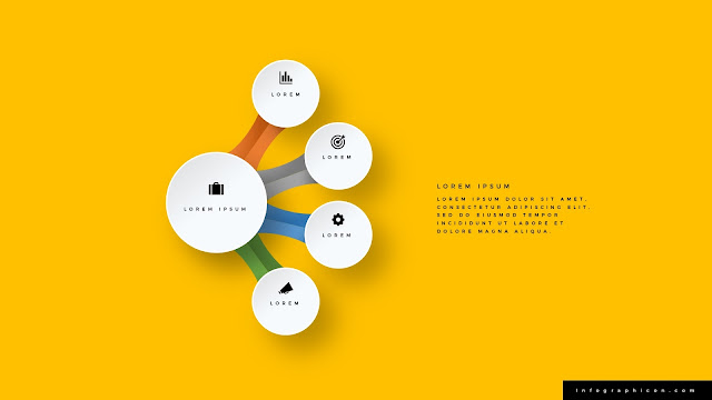 Infographic Organic Circular 4 Banner Options for PowerPoint Type D