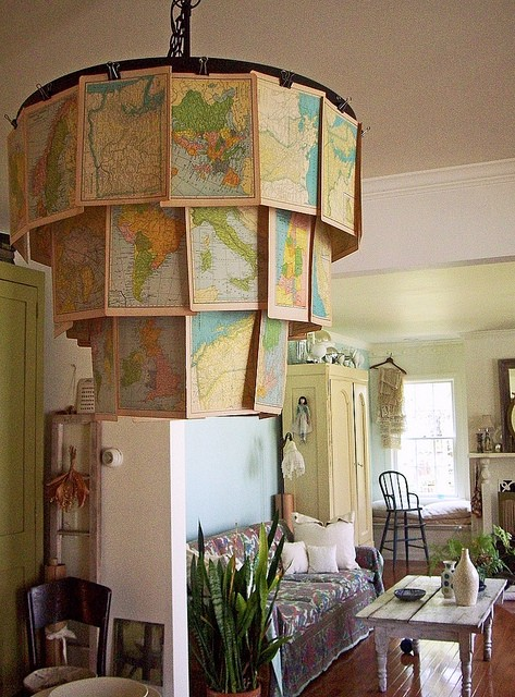 10 World Map Decorating Ideas