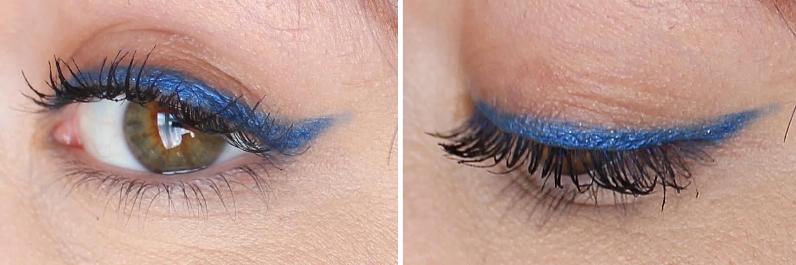 Max Factor Excess Longer Eyeliner Excessive cobalt swatch