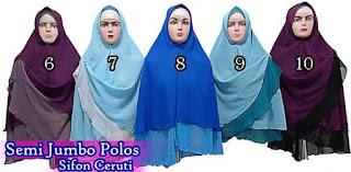 Jilbab khimar bolak balik dua warna murah edisi bulan pertama