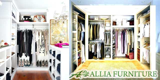 Desain lemari pakaian minimalis walk in closet