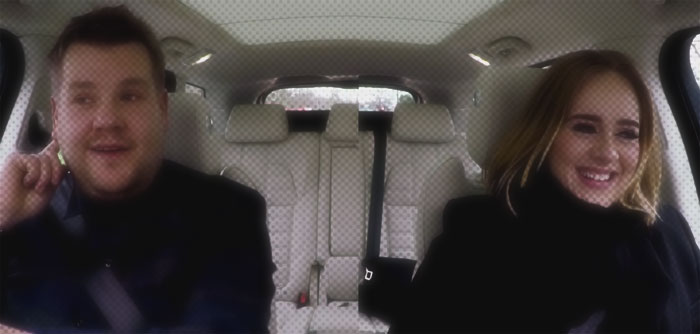 adele james corden carpool