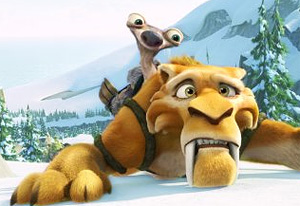 Sid and Diego in the snow in Ice Age: Continental Drift animatedfilmreviews.filminspector.com 2012