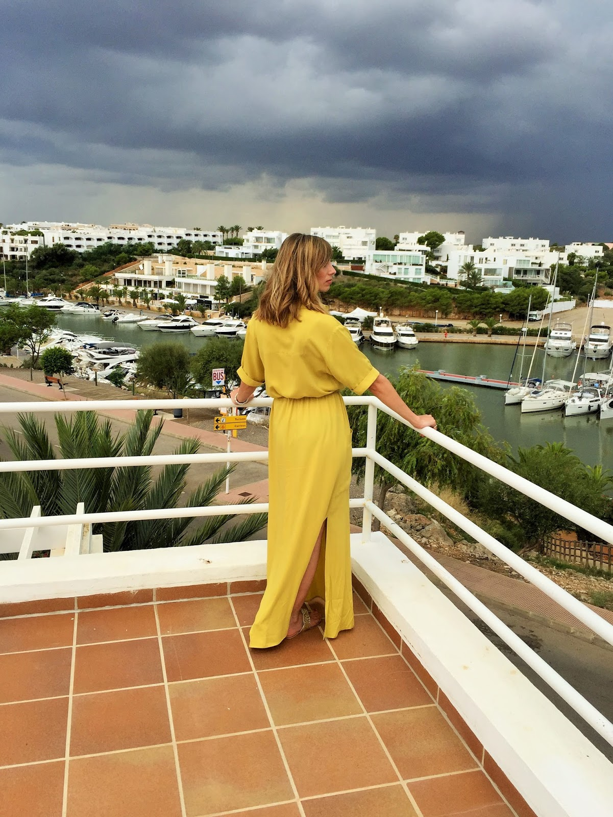 #OOTD - yellow maxi shirt dress from Asos