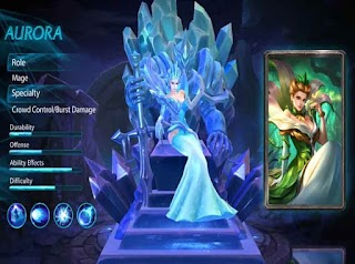"Mobile Legends  New Mage Hero ""Aurora"" – Skills and Abilities"