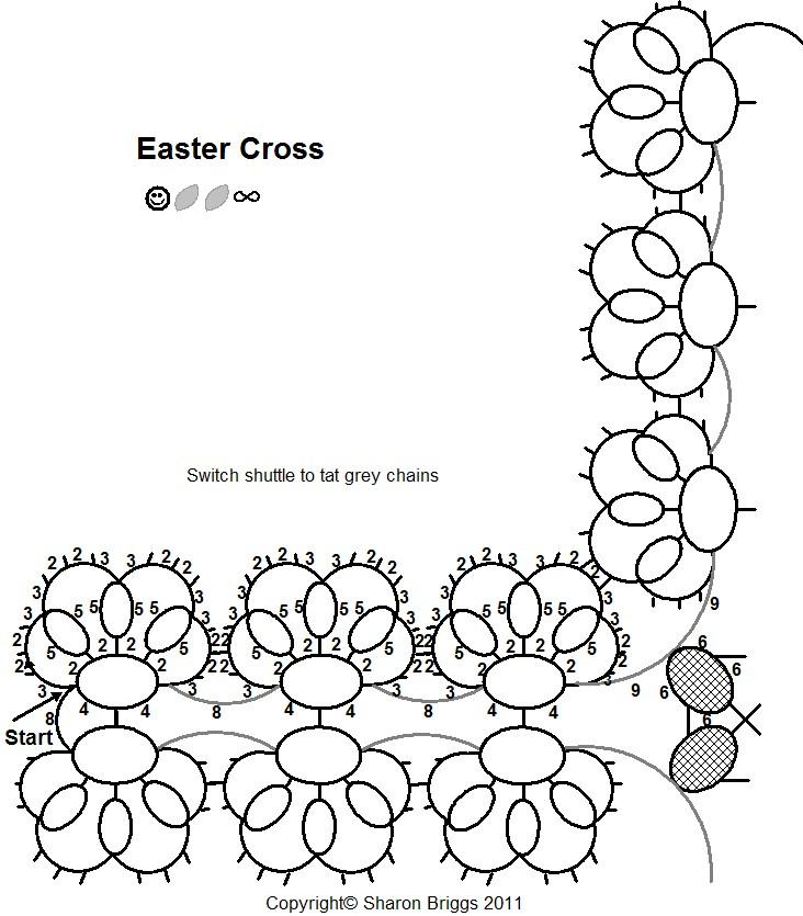 Sharon's Tatted Lace: Easter Cross