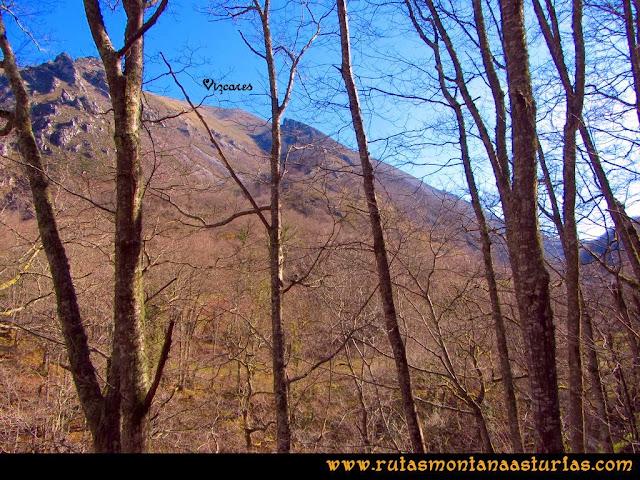 Ruta Pico Vízcares: Vista del Vízcares desde la zona de Muñizón