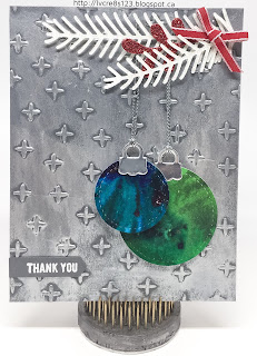 Linda Vich Creates: ColorBurst and Stitched Shapes Thank You. Stampin Up Pretty Pines and Stitched Shapes Framelits combine with Color Bursts and Inka Gold in this seasonal card.