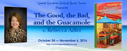 http://www.escapewithdollycas.com/great-escapes-virtual-book-tours/books-currently-on-tour/the-good-the-bad-and-the-guacamole-by-rebecca-adler/