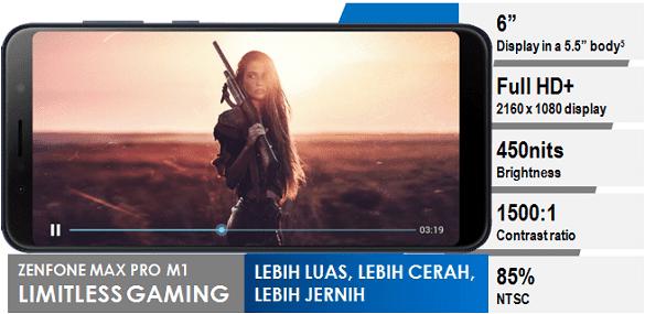 Zenfone Max Pro M1 punya layar lebih luas dan jernih